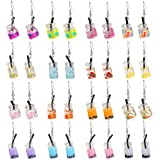 16 Pairs Cute Weird Dangle Earrings for Teen Girls Kawaii Aesthetic Boba Tea Drop Earrings