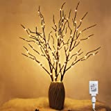 Twinkle Star 150 LED Lighted Brown Willow Branches 32 Inch 3 Pack Artificial Branches Plug in for Indoor Outdoor Christmas We