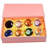多色透明 水晶 ダイヤモンド 形 40mm ペーパーウェイト ガラス 文鎮 装飾品 (八色)