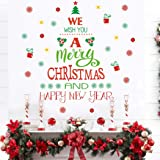 Merry Christmas Quotes Wall Decals(43 decals), Happy New Year Quotes Stickers, Christmas Tree Mistletoe Stars Fireworks Candl
