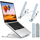 STOON Laptop Stand, Laptop Holder Riser Computer Stand, Aluminum 9-Angles Adjustable Ventilated Cooling Notebook Stand Mount