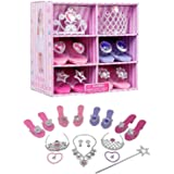 Royal Dreams Princess Shoes & Tiara Dress up Play . Includes 4 Princess Shoes for Girls 2 Tiaras Necklace Bracelets & Earring
