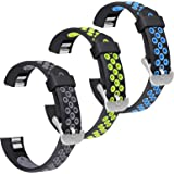 SKYLET Compatible with Fitbit Ace/Fitbit Alta Hr Bands, 3 Pack Soft Breathable Sport Wristbands Compatible with Fitbit Alta K