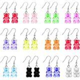 22 Pairs Bear Earring Set Cute Colorful Resin Candy Cartoon Drop Earring Party Favors Birthday Gifts Daily Costume Accessorie