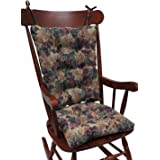 The Gripper Non-Slip Cabernet Tapestry Jumbo Rocking Chair Cushions