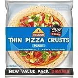 Mission Thin Pizza Crusts, Plain, 2 pizza crusts, 400g