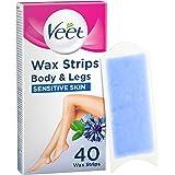 Veet Wax Strips for Sensitive Skin (Count of 40)