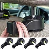 i-SMART Car Headrest Hook, Universal Car Hooks - Hang Purse or Grocery Bags - Car Hanger Hook, Car Headrest Holder with Lock