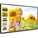 HOIN Frame Projector Screen 120 inch 16:9 HD 4K Movies Screen Portable Widescreen Foldable Anti-Crease Indoor Outdoor Project
