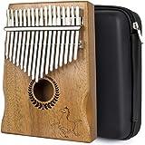 Kalimba Thumb Piano 17 keys Portable Mbira Finger Piano With Mahogany Wood And Tune Hammer Gifts For Adult Kids And Beginners
