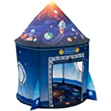 WillingHeart Rocket Ship Play Tent for Kids, Astronaut Spaceship Space Themed Pretend Playhouse Indoor Outdoor Games Party Ch