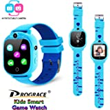 Prograce Kids Smart Game Watch with 90°Rotatable Camera Touch Screen Digital Wrist Watch Smartwatch for Boys Kids Electronic
