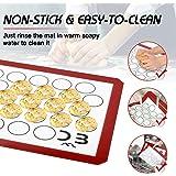 Baking Mat, Macaron Silicone Baking Mat Non-Stick Silicon Macaroon Baking Half Sheet BPA Free Perfect Baking Pad Cookie Kit f