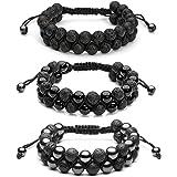Top Plaza Mens Womens Natural 8MM Gemstone Beads Chakra Healing Crystals Reiki Balancing Stretch Bracelets Tiger Eye Stone Se