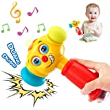 HOLA Baby Toys Boy Toys Light & Musical Baby Hammer Toy for 12 Months up   Infant Toys Funny Changeable Eyes Hammer Toddler T