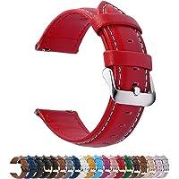 時計バンド ベルト、Fullmosa 全12色スマートウォッチバンド ベルト 腕時計バンド 交換ベルト本革 レザー14m…