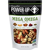 Power Up Trail Mix, Mega Omega Trail Mix, Non-GMO, Vegan, Gluten Free, No Artificial Ingredients, Gourmet Nut, 14 oz Bag, Gre