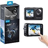 アクションカメラ AKASO Brave 7 LE 水中カメラ 4K 20MP 高画質 IPX7本機防水 デュアルカラースクリーン Wi-Fi EIS2.0手ぶれ補正 SONYセンサー 1350mAhバッテリー2個 40M防水(ケース必要) リモコン