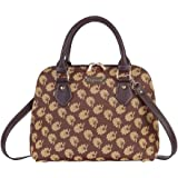 Signare Tapestry Convertible Top-Handle Shoulder Handbag Purse in Jane Austen Design