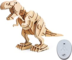 ROBOTIME 動く木製パズル ティラノサウルス T-REX 音声制御 光制御あり レーザーカット 日本語訳説明書付き 102ピース 約407×160×295mm D200