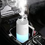 Car Diffuser Humidifiers, YJY Portable Cool Mist Humidifier for Bedroom Travel Baby, USB 300mL Auto Shut-off 7 Colors LED Lig
