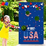 Patriotic Bean Bag Toss Game – Fourth/4th of July Banner Indoor Outdoor Activity Party Supplies Decorations