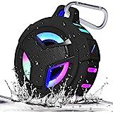 EBODA Bluetooth Shower Speaker, Waterproof Portable Bluetooth Speakers, TWS IP67 Waterproof Outdoor Speaker Wireless with LED