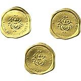 moin moin シール シーリング ワックス 120枚 大容量 (1シートにつき8枚 15シート セット) スタンプ 風 ろう 封蝋 ぷっくり 金色 ゴールド
