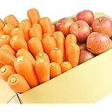 にんじん 野菜セット( にんじん 3kg+ りんご2kg )にんじん : 農薬・化学肥料不使用栽培 訳あり