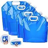 AK KYC 給水袋 4枚入り 給水用品 給水タンク 貯水 大容量 折りたたみ 持ち運び便利 ウォーターバッグ 防災用品 災害 アウトドア
