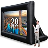 Jumbo 20 Feet Inflatable Outdoor and Indoor Theater Projector Screen - Includes Inflation Fan, Tie-Downs and Storage Bag