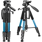 Neewer Portable 56 inches/142 Centimeters Aluminum Camera Tripod with 3-Way Swivel Pan Head,Carrying Bag for Canon Nikon Sony