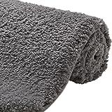 Gorilla Grip Original Premium Luxury Bath Rug, 24x17 Inch, Extra Soft, Absorbent Faux Chinchilla Bathroom Plush Mat Rugs, Mac