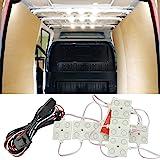 12V 40 LEDs Van Interior Light Kits, Ampper LED Ceiling Lights Kit for Van RV Boats Caravans Trailers Lorries Sprinter Ducato