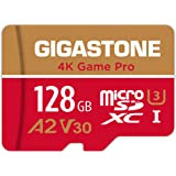 Gigastone 128GB Micro SD Card, 4K Game Pro, Nintendo-Switch Compatible, A2 Run App, 4K Video Recording, R/W up to 100/50MB/s,