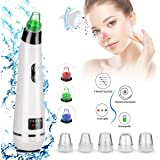 Blackhead Remover Vacuum Pore Cleaner - Acne Comedone Extractor Tool Exfoliating Machine Removal Beauty IPL Device with 5 Adj