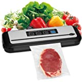 INKBIRD Vacuum Sealer Automatic Sealing Machine for Food Preservation Dry Moist Sealing Modes with Built-in Cutter Starter Ki