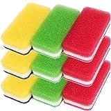 ダスキン スポンジ 抗菌タイプ (台所用) 9個入り 台所キッチンスポンジ キッチン用 油汚れ 長持ち (3色セット抗菌…