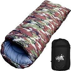 White Seek(ホワイトシーク) 寝袋 シュラフ ワイドサイズ 封筒型 限界使用温度-7℃ 抗菌使用