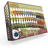 The Army Painter Miniature Painting Kit with Bonus Wargamer Regiment Miniature Paint Brush - Acrylic Model Paint Set with 50