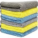 洗車タオル より大きい より厚い 6枚セット 40x40cm 吸水 速乾 洗車職人のこだわり 洗車 家事用 掃除 ふき取り 厚い繊維 マイクロファイバークロス HOTOR
