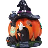 prosfalt Halloween Pumpkin Decoration, Witch Pumpkin Figurine,Scary Ornaments for Halloween Party Decoration and Home Statue,