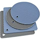 Silicone Trivet Mats, Silicone Pot Holders for Hot Pan and Pot Pads. Heat Resistant Counter Mats for Tables, Countertops, Spo