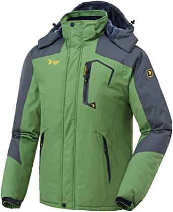 TBMPOY 登山服 メンズ アウトドア ジャケット スキー マウンテンパーカー 多機能 防寒 防風 撥水 フード付き 取り外し可能