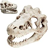 Weewooday 2 Pieces Aquarium Decoration Resin Artificial Dinosaur Skull Skeleton Ornament Small Dinosaur Skull Aquarium Decor