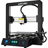 ANYCUBIC Mega S Upgrade FDM 3D Printer with Extruder and Suspended Filament Rack + Free Test PLA Filament, Works with TPU/PLA
