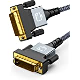 Snowkids DVI ケーブル 1.8M DVI-D 24+1 DVI-DVI ケーブル デュアルリンクケーブル Dual Link ディスプレイケーブル 1080P オス オス 24ピン ディスプレイ、プロジェクター、HDTV等に適用