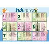 九九 学習ポスター A3サイズ (420×297mm)【日本製 知育玩具 A3 ポスター 学習ポスター】