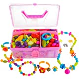 Gili Pop Beads, Jewelry Making Kit for 4, 5, 6, 7 Year Old Little Girls, Arts and Crafts Toys for Kids Age 4yr-8yr, Necklace