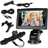Baby Car Mirror,Baby Car Camera for Back Seat with 4.3'' HD Display,Night Vision,Wide Crystal Clear View,Reusable Sucker Brac